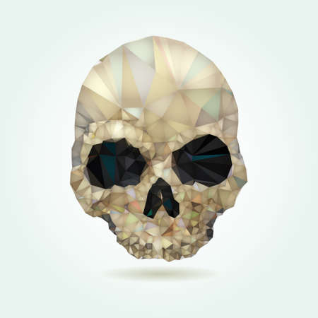death s head: Skull low poly vector