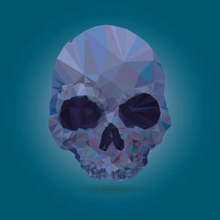 using mouth: Skull low poly vector