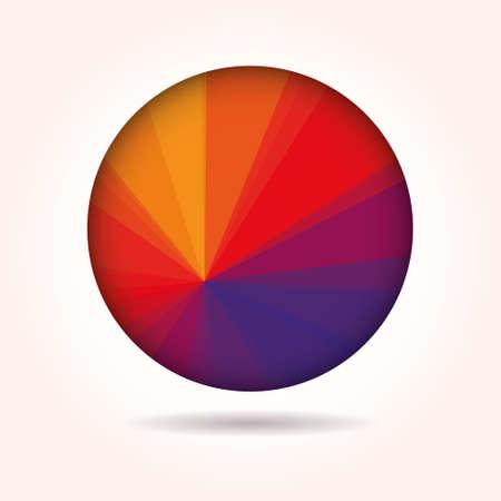 low poly sphere Ilustração