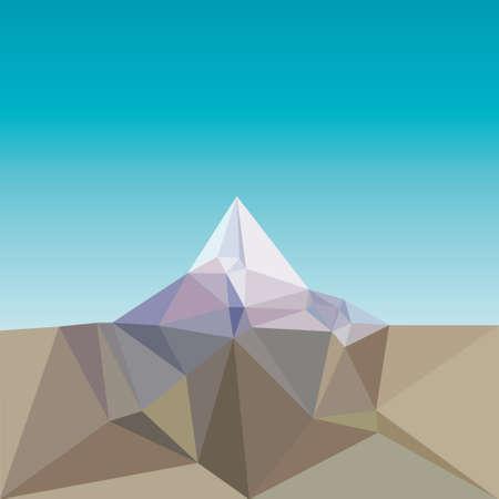 low poly mountain landscape