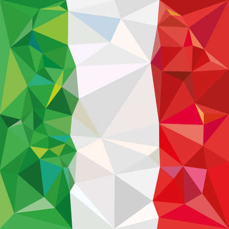 Stylized flag of Italy Low poly style