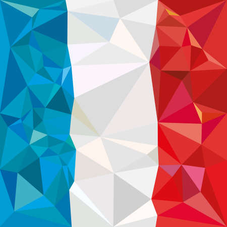 french culture: Stylized flag of France low poly
