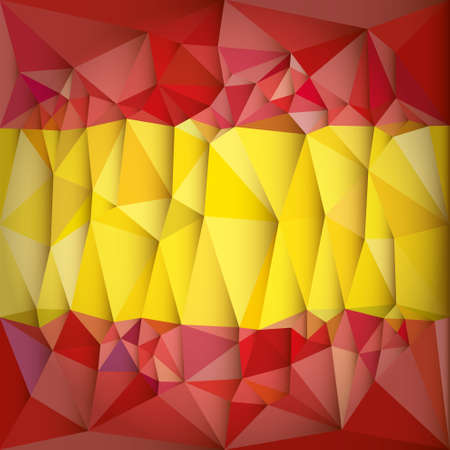 x country: Low Poly Spain National Flag