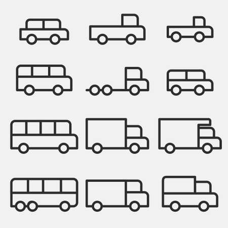 car vehicle icons Vector