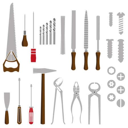 carpenter pincer: Hand tools work in September Illustration