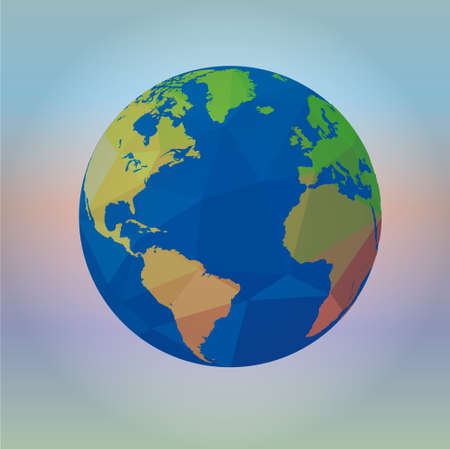 appoints: Map of the world on blur background