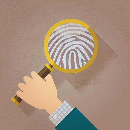 ida: Magnifying Glass and Fingerprint