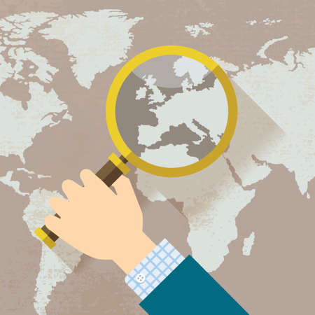 mapa de europa: Mapa del mundo Países Europa con lupa