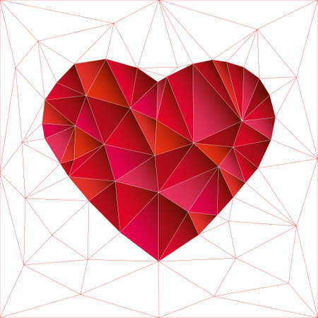 appoints: Low poly red heart