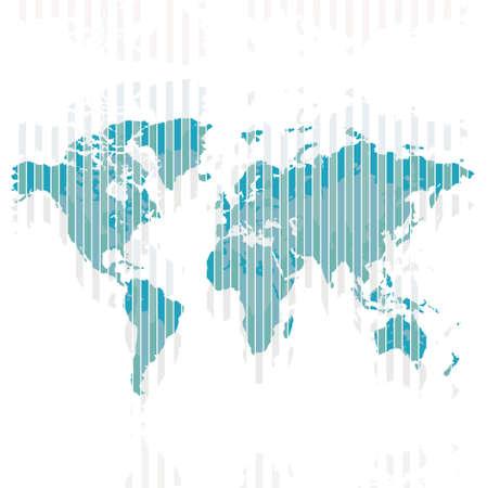 oceana: map of world. world map concept