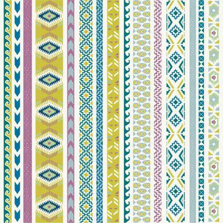 tribales: Patrón transparente. Ilustración vectorial para el diseño tribal. Motivo étnico.