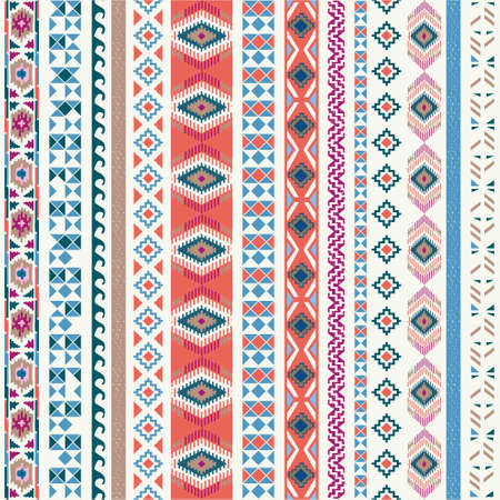vector backgrounds: Seamless pattern. Vector illustration for tribal design. Ethnic motif. Illustration