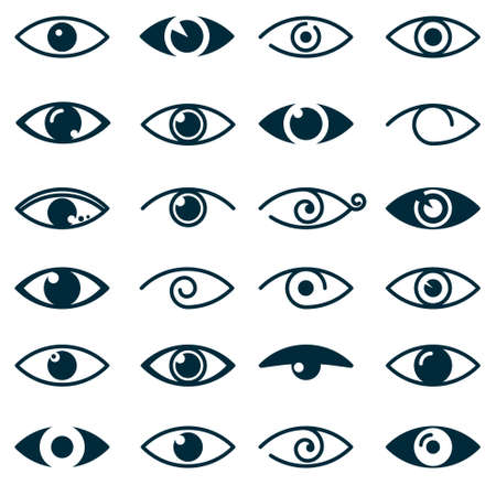 puree: Collection of eyes icons and symbols - logo design. Vector illustration