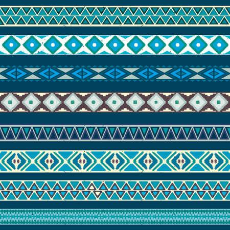 vector pattern: Seamless pattern. Vector illustration for tribal design. Ethnic motif. Illustration