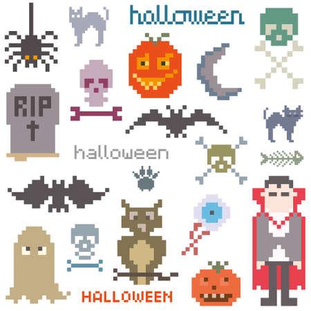 game icon: Set of icons on halloween theme