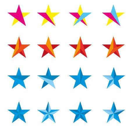 star path: Star vector logo design Illustration