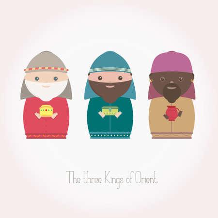 balthasar: The Three Kings of Orient wisemen Illustration
