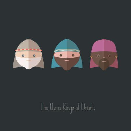 caspar: The Three Kings of Orient wisemen Illustration