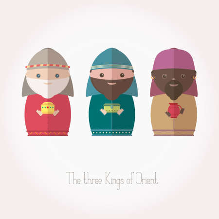 myrrh: The Three Kings of Orient wisemen Illustration