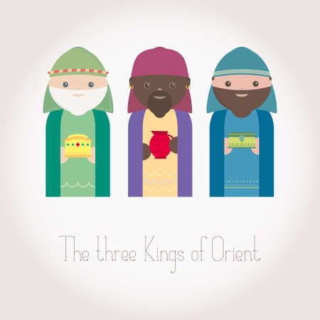 wisemen: The Three Kings of Orient wisemen Illustration