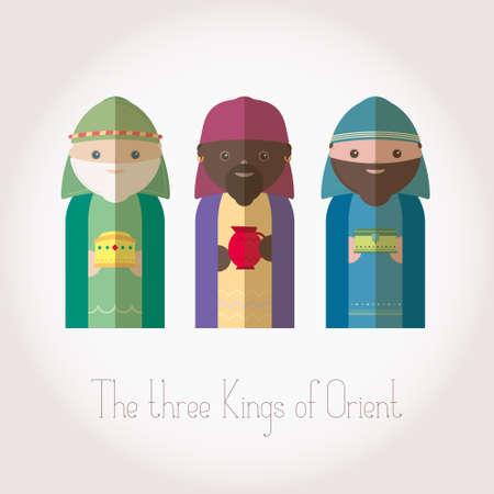 orient: The Three Kings of Orient wisemen Illustration