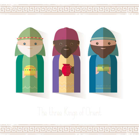 gaspar: The Three Kings of Orient wisemen Illustration