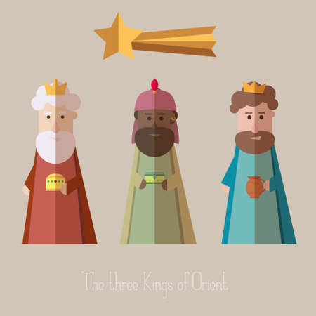 melchior: The Three Kings of Orient wisemen Illustration