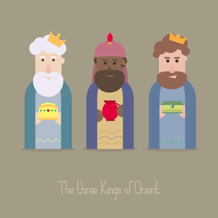 balthazar: The Three Kings of Orient wisemen Illustration