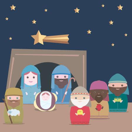guarder�a: Vector Natividad
