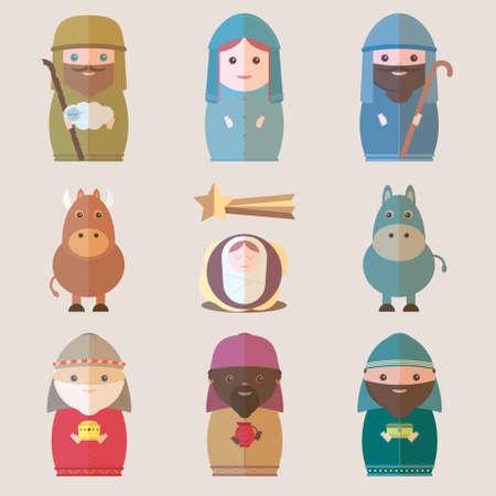 jesus birth: Vector Natividad