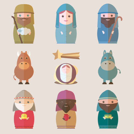 wise men: Vector Nativity
