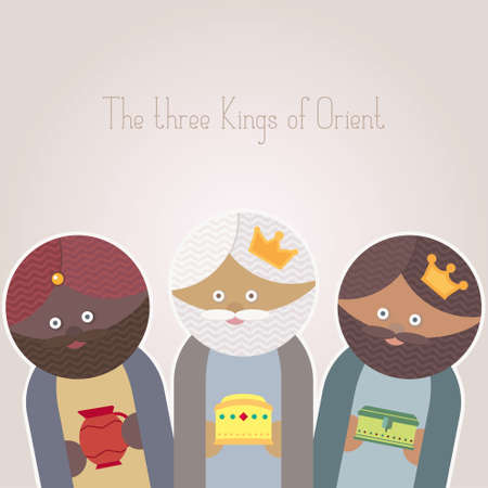 melchor: The Three Kings of Orient wisemen Illustration