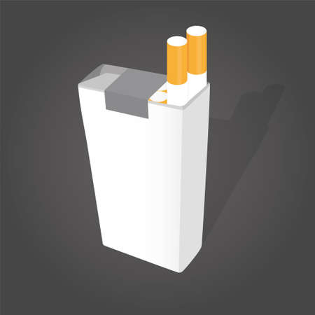 carcinogen: With cigarettes pack Illustration