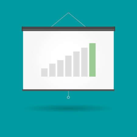 salts: Vector Presentation Chart Growing Business