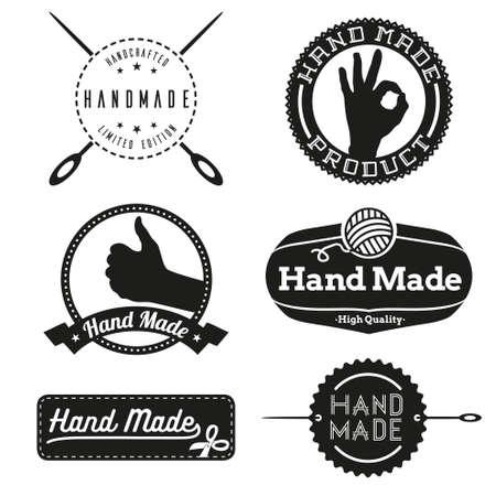 Hecho a mano logotipos de diseño de logotipo