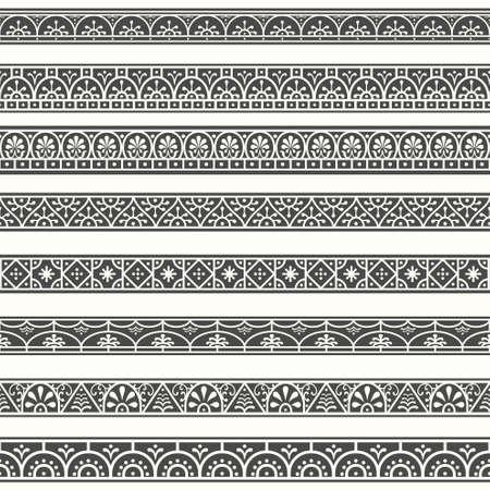 schriftrolle: Klassische Roman pompeianischen September Grenzen Illustration