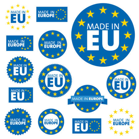 EU: Made in European Union labels, badges and stickers