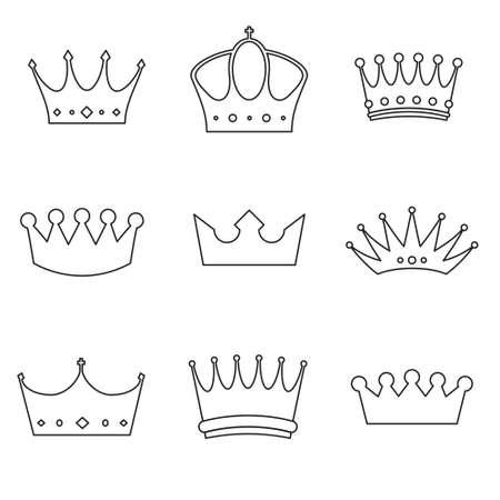 easy: Crown basic design icons