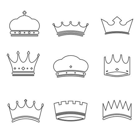 black gram: Crown basic design icons
