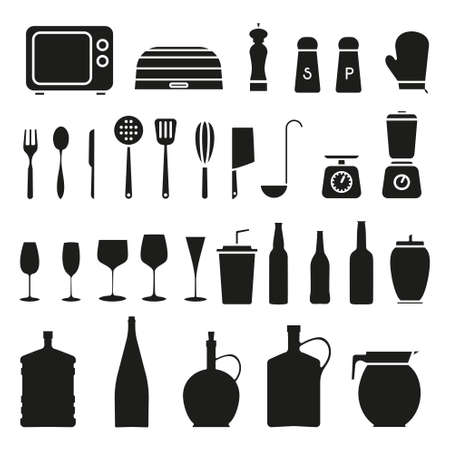 chef s hat: Kitchen Icon Set - Vector Graphics
