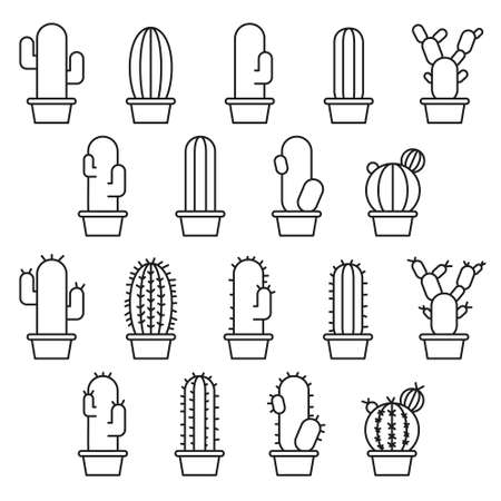 cactus cartoon: Abstract cactus collection in illustration Illustration