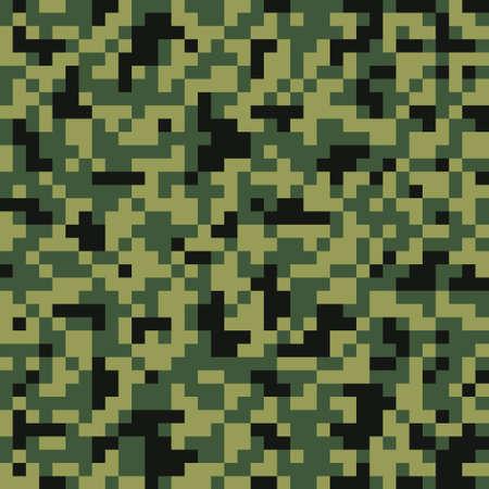 ammunition: Pixel digital camouflage seamless pattern Illustration