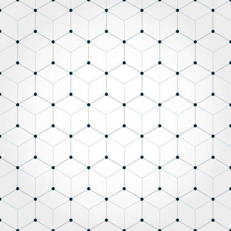 Abstract hexagonal geometric background