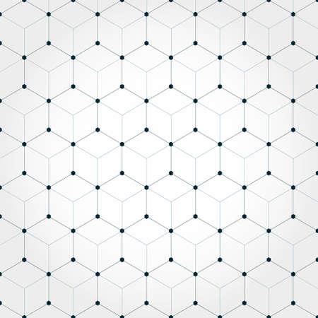 Abstracte zeshoekige geometrische achtergrond