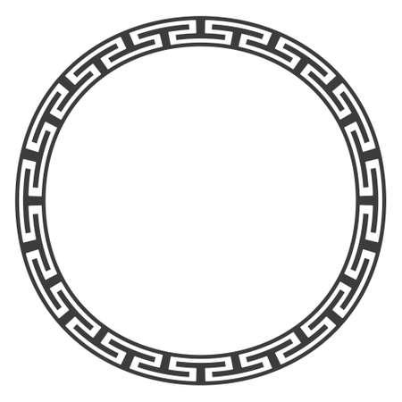 romana: frontera clásica antiguos diseños más redondo