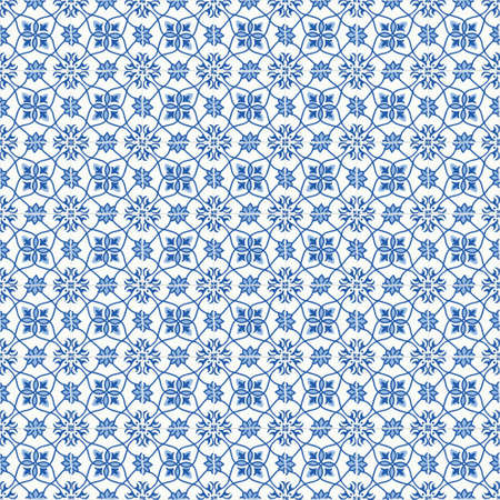 carreaux ornés traditionnels carreaux portugais. Vintage seamless pattern. Abstract background. illustration vectorielle