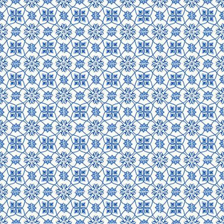 Traditionele sierlijke tegels Portugese tegels. Vintage naadloze patroon. Abstracte achtergrond. vector illustratie