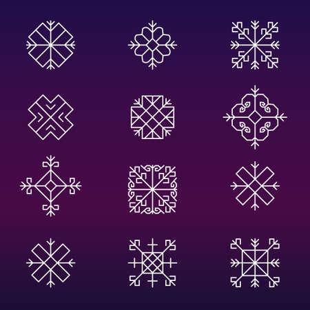 folksy: Variations of the ancient Latvian sun sign set -variable line- Illustration