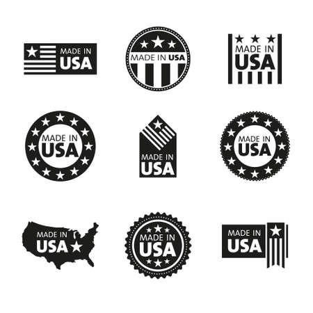 Wektor zestaw etykiet w USA