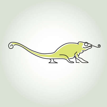 minimal: Chameleon line in minimal style vector